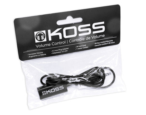 Koss Stereo Volume Control Extension Cord for Headphones