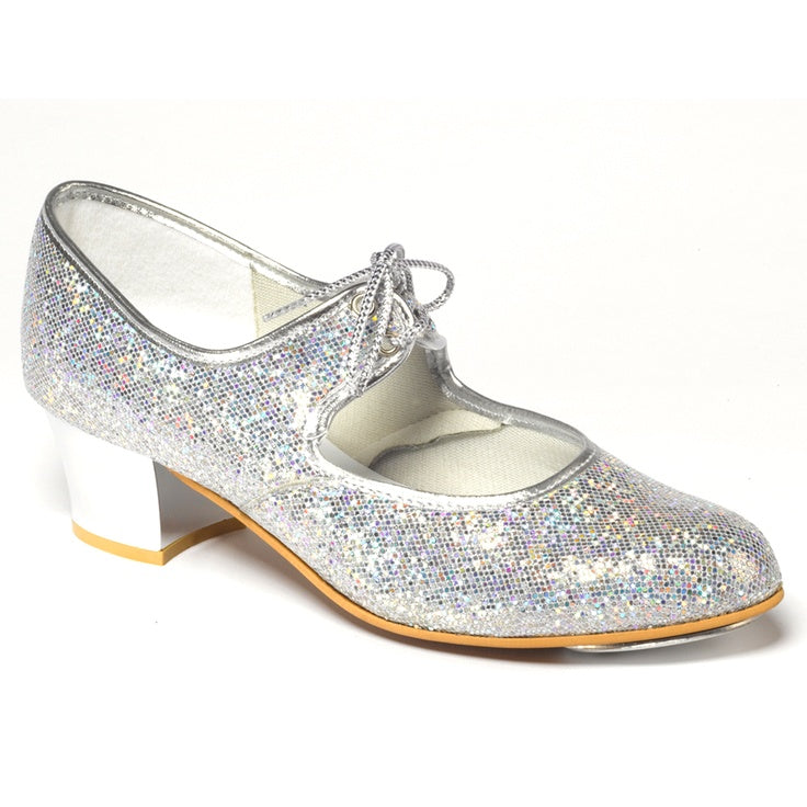 Silver Glitter Tap Shoes - Dance Emporium