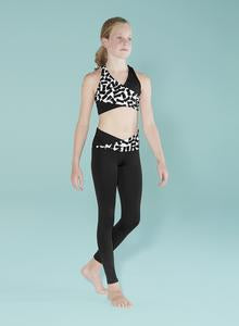Bloch Printed Wrap Waist Leggings - Dance Emporium