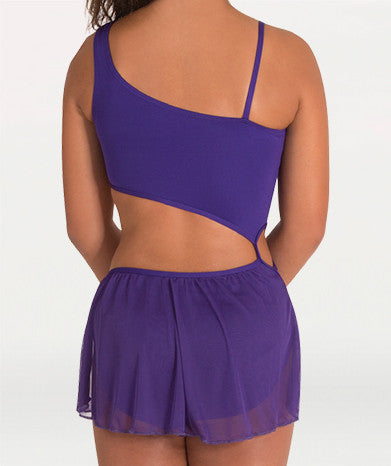 Diagonal Asymmetrical Dance Dress - Dance Emporium