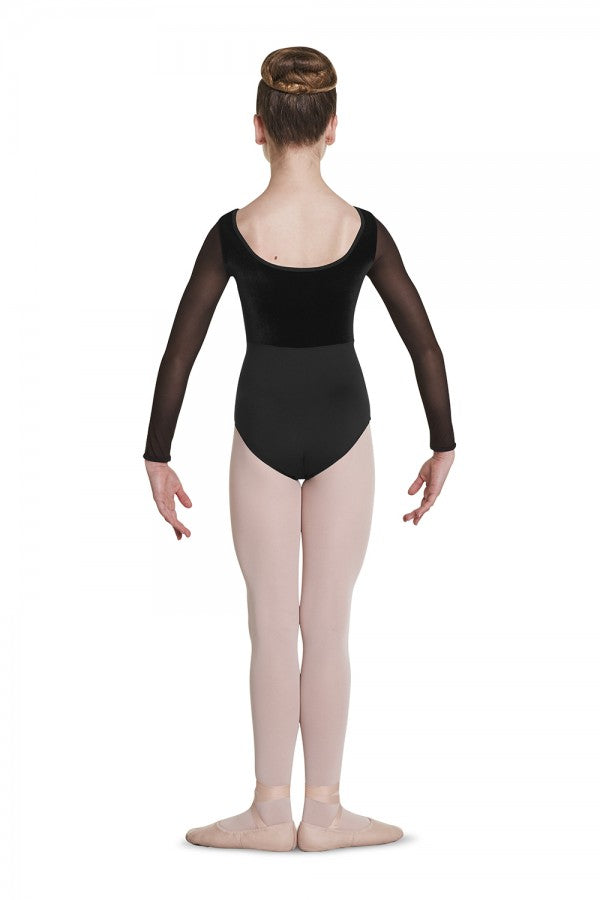 Girl's Scoop Neck Velvet Leotard - Dance Emporium