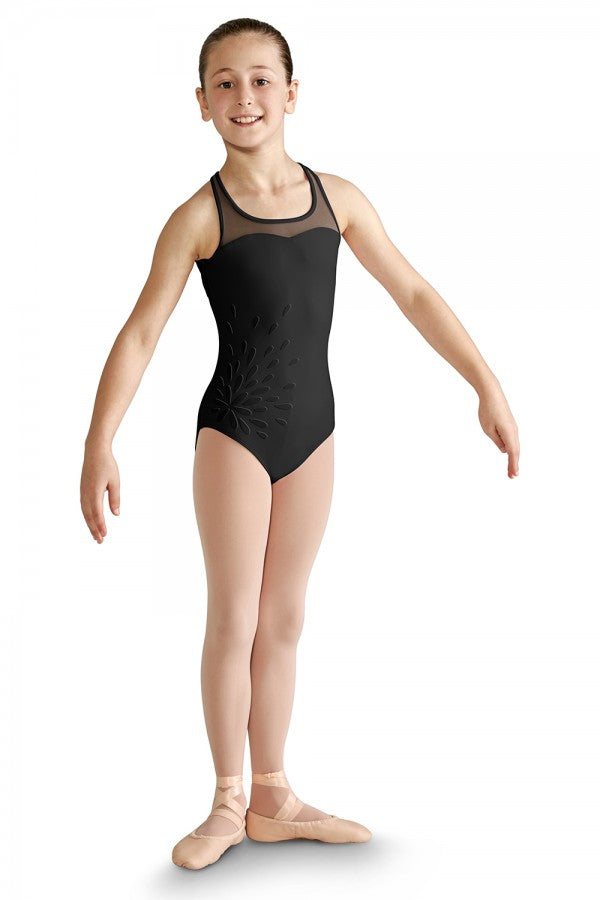 Mirella Applique Mesh Leotard - Dance Emporium