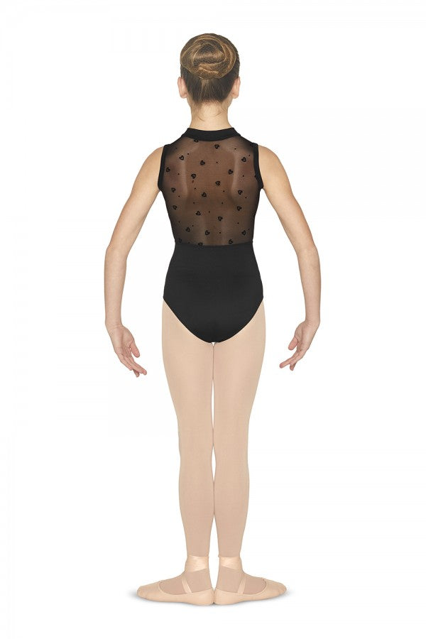 M450c Girl's HiNeck Zip Leotard - Dance Emporium