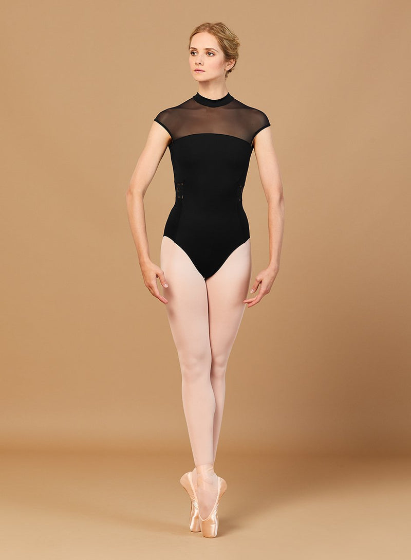 High Neck Black Bloch Leotard