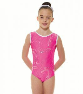 Lycra and Silver Hologram Sleeveless Gymnastic Leotard Gym 35 - Dance Emporium