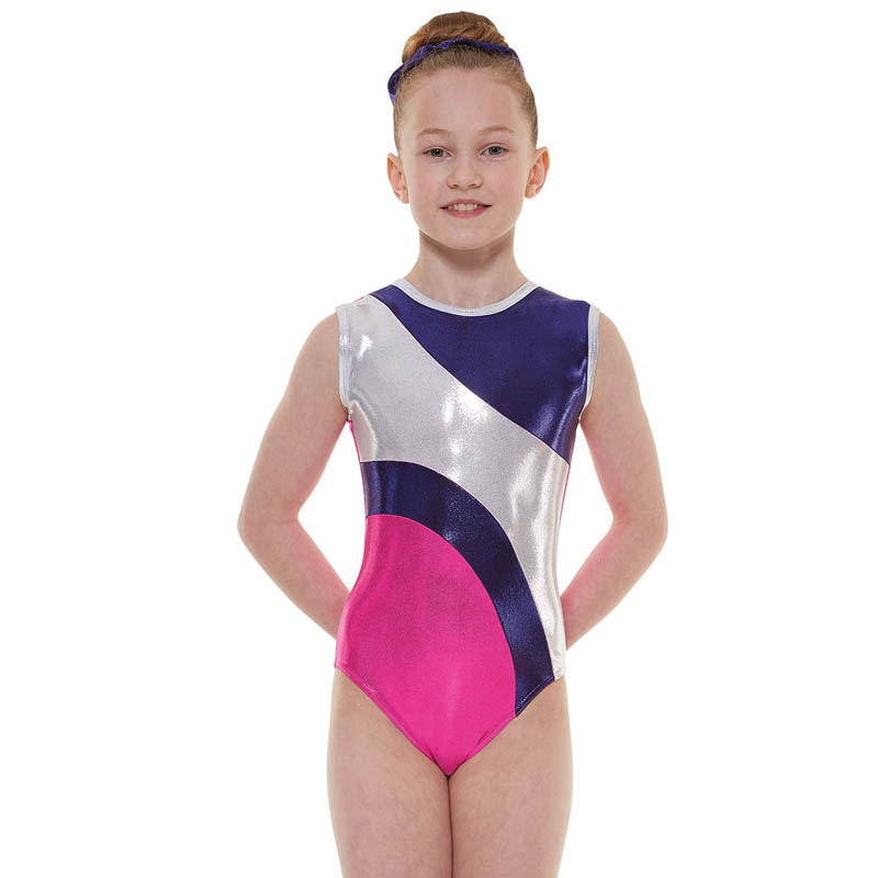 Pink & Purple Shine sleeveless leotard - Dance Emporium