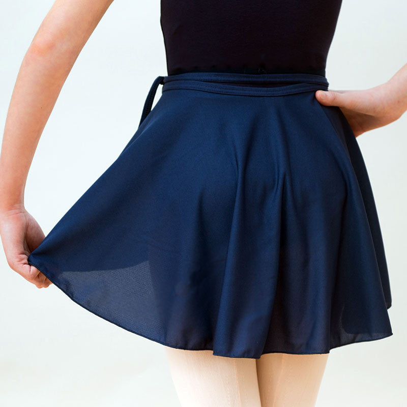 Navy Wrap Skirt - Dance Emporium