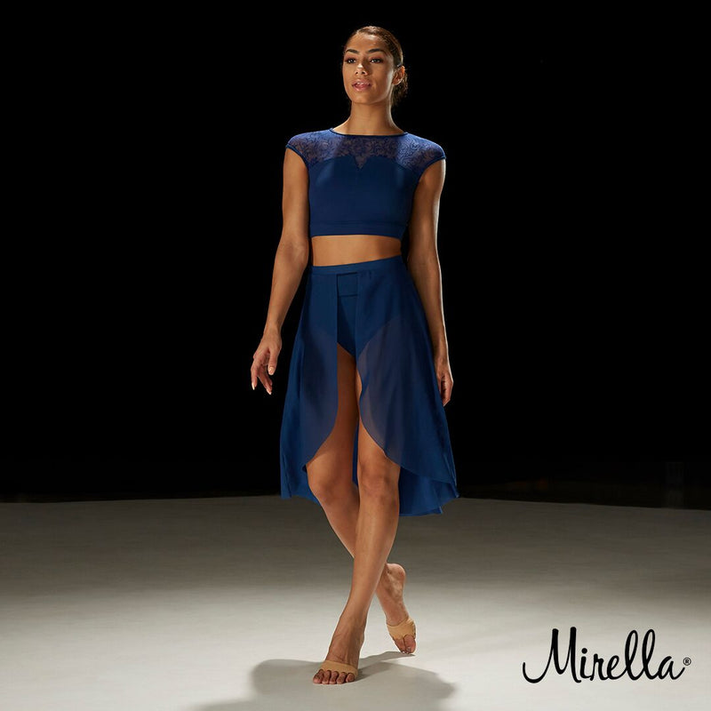 Mirella Cap Sleeve Crop Top - Dance Emporium