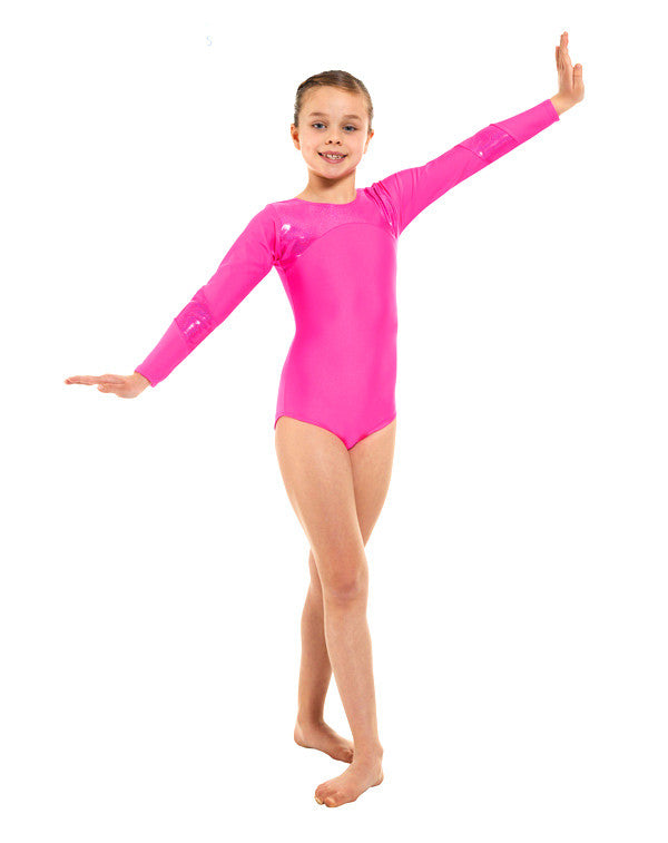 Lycra And Hologram Shine Long sleeve leotard Gym 9 - Dance Emporium