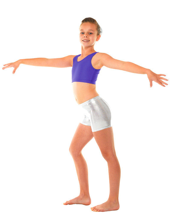 Shine fabric Micro Shorts - Dance Emporium