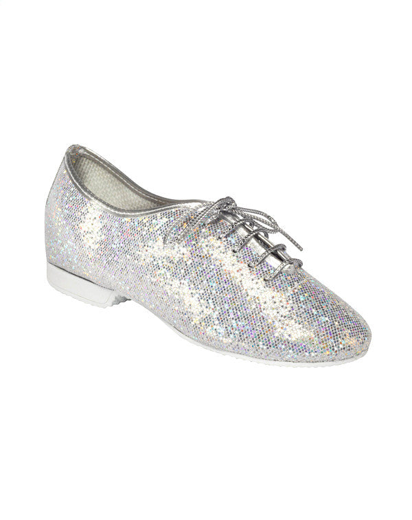 Silver Hologram Full Sole Jazz Shoes - Dance Emporium