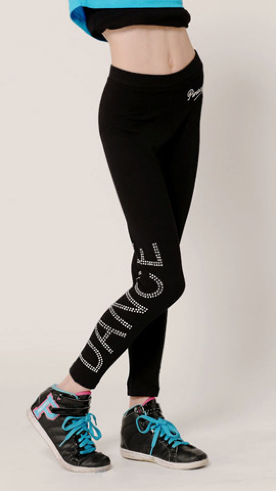 Pineapple Diamante Dance leggings - Dance Emporium