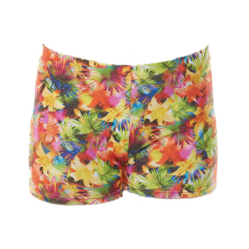 Tropical print Micro Shorts