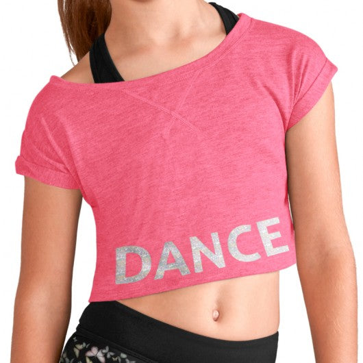 Dance Tie Crop Tee Girls - Dance Emporium