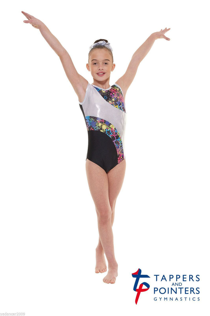 Lycra and Metallic Astro Foil Sleeveless Gymnastic Leotard Gym 39 - Dance Emporium