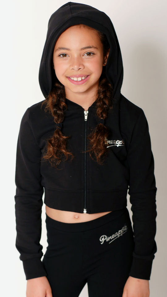 Crop Diamante Dance Hoodie - Dance Emporium