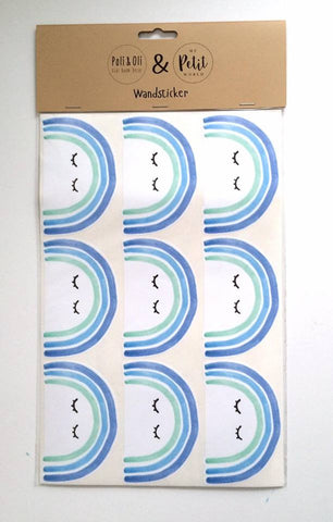 Little Rainbow Wallsticker (Blue)