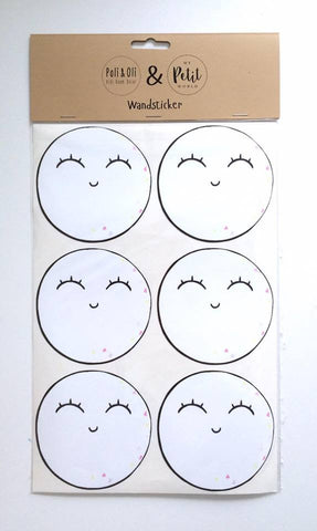 Little Moon Wallstickers Pink