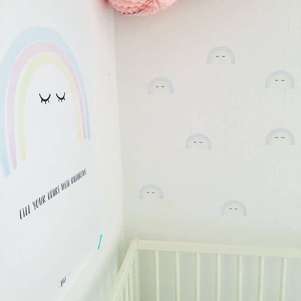 Poster Little Rainbow Pink