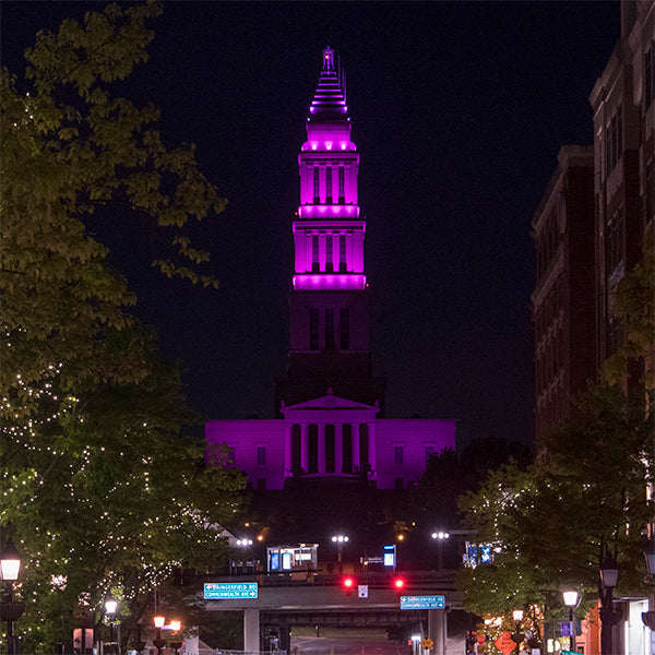Lit in Purple for Remembrance of Joseph McCoy