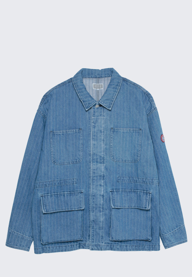 CAV EMPT STRIPE DENIM WORK JACKET