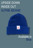 Inside Out Upside Down Beanie Blue