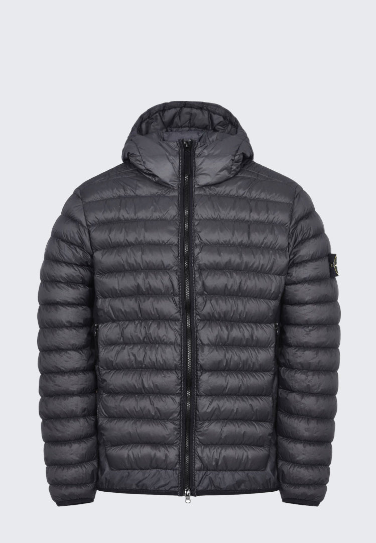 STONE ISLAND GARMENT DYED MICRO YARN DOWN HOODED JACKET