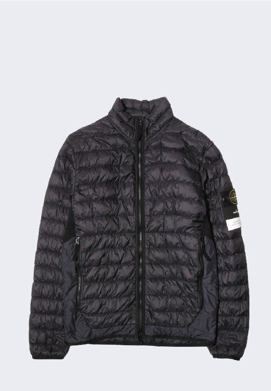 STONE ISLAND REAL DOWN PUFFER JACKET BLACK
