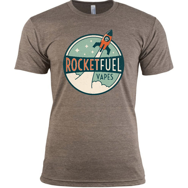 Rocket Fuel distressed vintage logo vape t-shirt