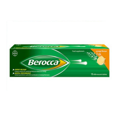 Berocca ORANGE Effervescent, 15 Tablets