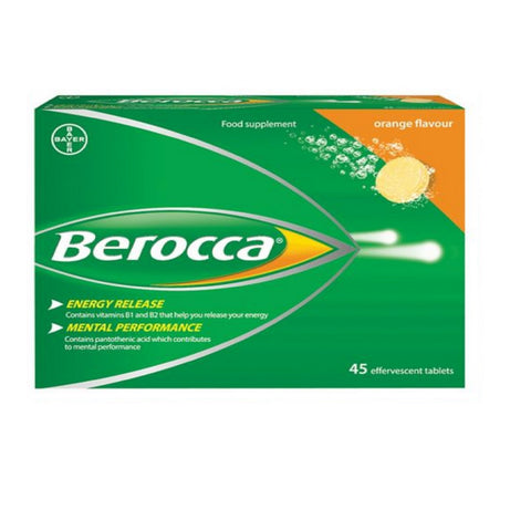 Berocca ORANGE Effervescent - 45 Tablets