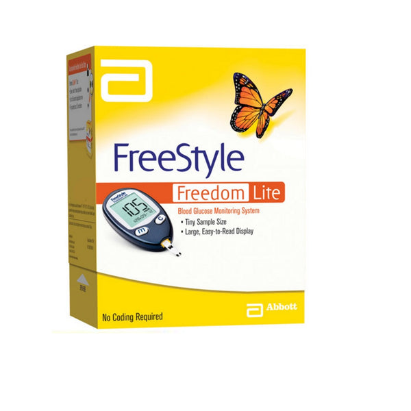 Freestyle Freedom Lite Monitor + 60s test strips + 100 lancets