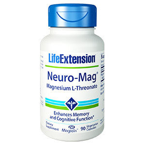 Life Extension Neuro-Mag® Magnesium L-Threonate, 90 vegetarian capsules
