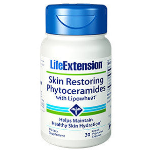 Life Extension Skin Restoring Phytoceramides with Lipowheat®, 30 liquid vegetarian capsules