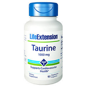 Life Extension Taurine 1000 mg, 90 vegetarian capsules