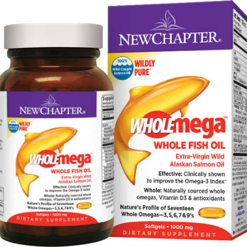 New Chapter Wholemega™ Whole Fish Oil, 60 softgels