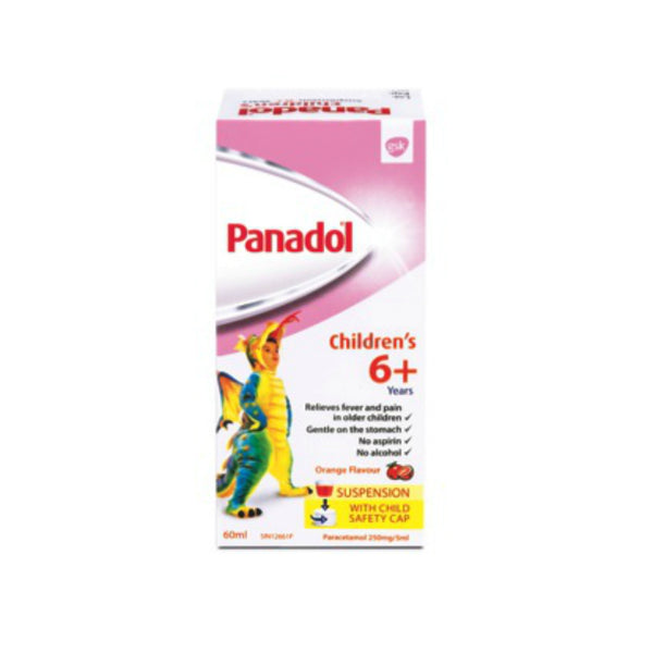 Panadol Children Suspension 6+ Years, 60ml