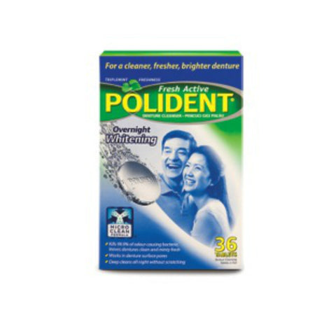 Polident® Overnight Cleansing Tablets, 36s
