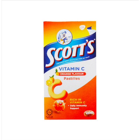 Scott's Vitamin C Pastilles Orange, 100g