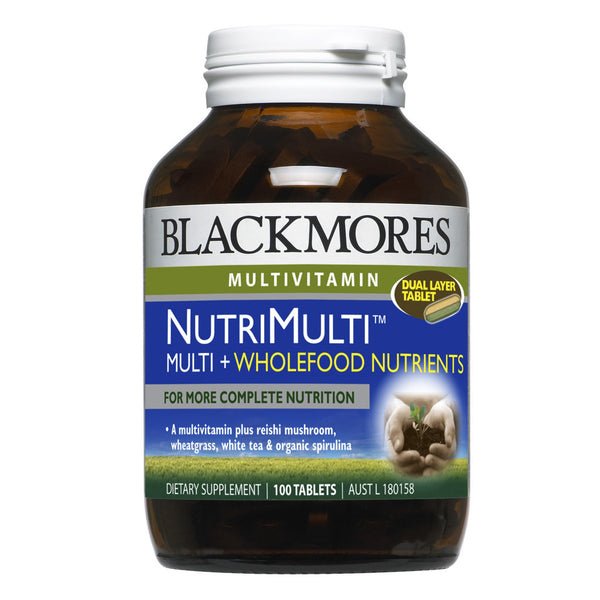 Blackmores NutriMulti™ Multi + Wholefood Nutrients, 100s