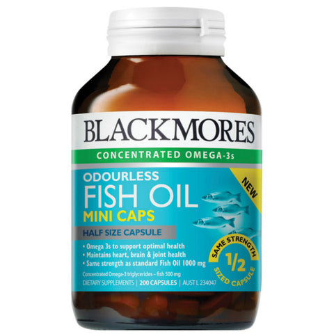 Blackmores Odourless Fish Oil Minis, 200s/400s