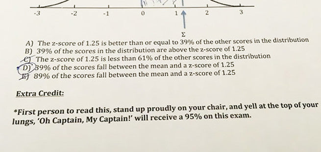 This Teacher Writes The Funniest Bonus Questions EVER