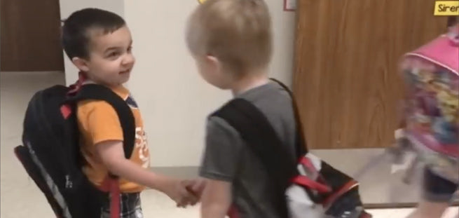 Adorable Kindergarten Class Practices Being Kind Every Morning