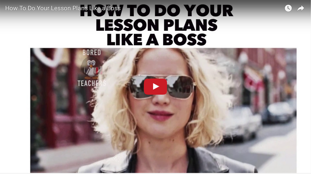 How To Do Your Lesson Plans Like a Boss