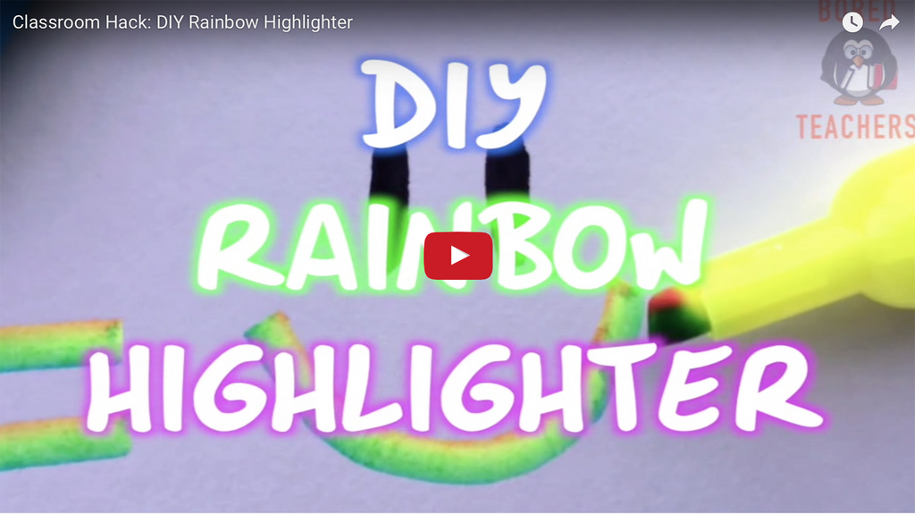 Amazing Classroom Hack: DIY Rainbow Highlighter