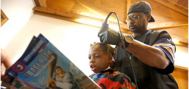 Barber Gives Free Haircut to Kids Who Read Books