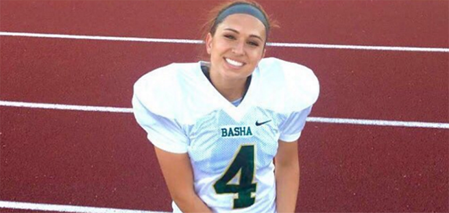 Teen Girl is the First Female to Earn NCAA Football Scholarship