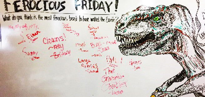 Teacher Engages Class With Incredible Drawings Every Day