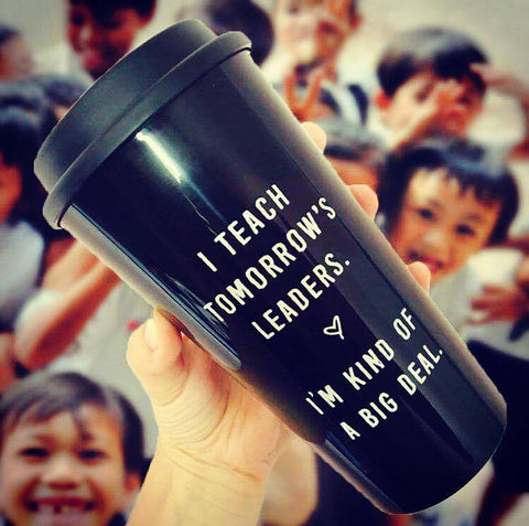 TOMORROW'S LEADERS MUG BORED TEACHERS