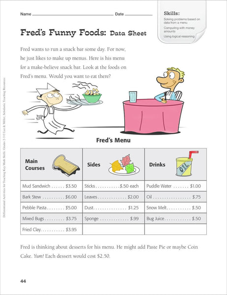 Scholastic Printables Fred's Foods